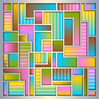 Colorful Blocky Abstract by Viscious-Speed