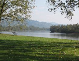 Bench and Drina by VittorioMatteo