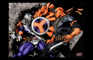 Taskmaster VS Deathstroke by Jake-Townsend