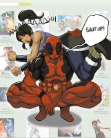 Deadpool X Korra by DJOK3