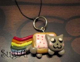 Nyan Cat cellphone charm by SugiAi