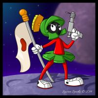 Marvin the Martian by LaurenSparks