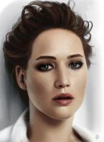Jennifer Lawrence (Painting) by LuzTapia