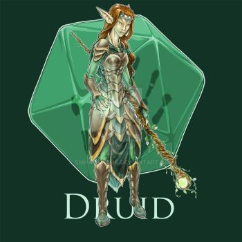Dungeons and Dragons Druid Class by tranquil-eyez
