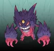 Mega Gengar Colors by edcomics