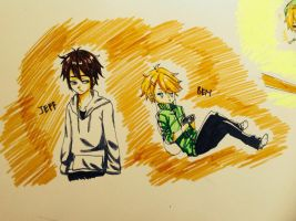 Normal Jeff and Human Ben my version by Ari-chii19