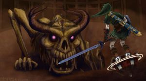 Link vs Stallord by cyen