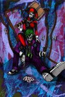 Joker and Harley coloured by Section115a