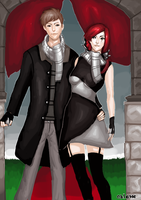 Katarina x Garen Fashionably Late by oblesse