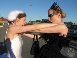 White and Black Swan hate by MiracoliCosplay