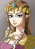 Princess Zelda by BakaArts