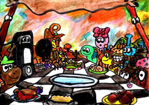 The Thanksgiving Feast by SonicClone