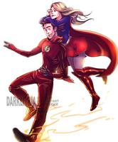 More The Flash and Supergirl by DarkLitria