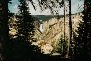 Yellowstone Waterfall by Makapo