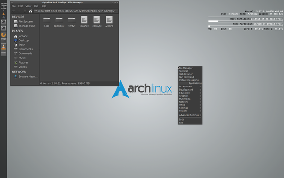 Openbox Arch Linux 2014 October 28 by fetyr2004