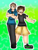Aurore-Chase Oc's Alex and Brendan by BrownieTheif