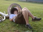 Band Camp 05--Tuba Pillow by Jennycallie