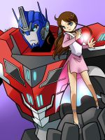 Comm: Optimus x Elena 2 by Evelynism