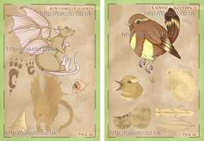 Bestiary Coursework Test Pages #1 by Takoto