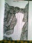 waterfall...made by my younger sister... by tanyajustin