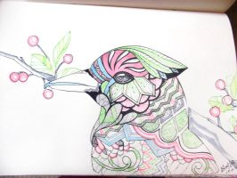 Pastel feathers. by S-P-Liana