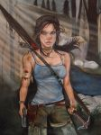 Lara Croft Tomb Raider (Acrylic Paint) by Launadoon
