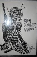 Iron Maiden Drawing by itchysack
