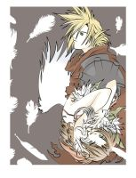 Aeris n Cloud ready to print onto blanket for sale by TheSpyWhoLuvedMe