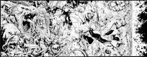 Green Lantern Annual #3 4 page spread by MarkIrwin