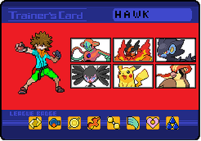 My brother's trainer card! by Tigereagle