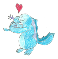 Wooper Quagsire Cuddle by MetalShadowOverlord