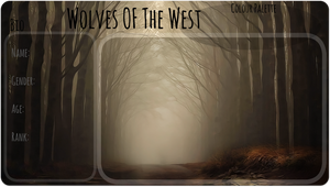 Wolves Of The West Application Sheet by AcidPumpkin