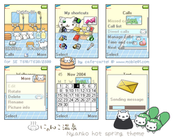 Nyanko hot spring theme - T610 by cafe-cartel