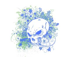 Floral Skull Vector by Aket-Designs