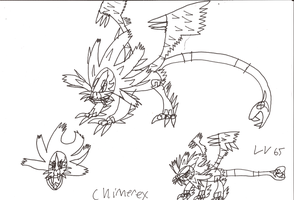 2011 Concept Art - Fakemon Chimerex by GIGAN05