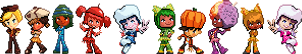 Sugar Rush Racer Sprites with Glitch by CherushiMetsumari