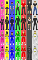 Power Rangers Turbo Rangers A by CWK34