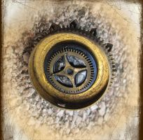 Steampunk Collage Ring by asunder