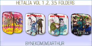 Hetalia Vol 1 2 3 5 Folders by Nekomimiarthur