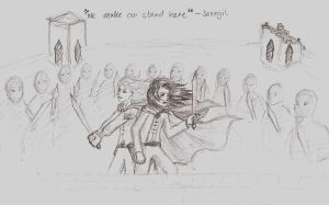 We make our stand here sketch by blackbirdrose