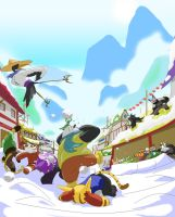 Kung Fu Panda: Snow Ball Fight by Purpleground02