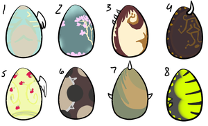 Hatching Adoptables 1 - GONE by Railguns