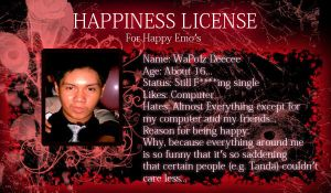 Happiness License by mihosama