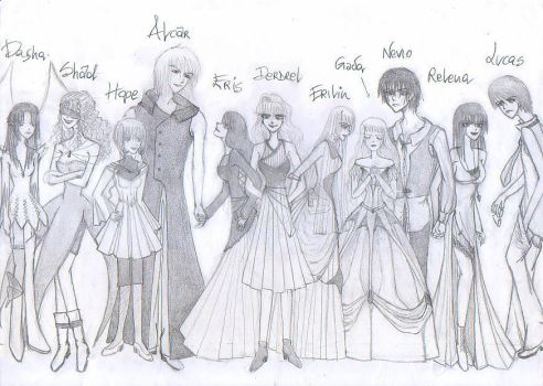 Chara's height study by relena44