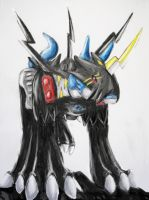Fanartweek entry one Raidramon by Lumituisku