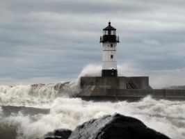 winter storm on Lake Superior by Nipntuck3