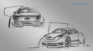 audi sketches - having a break by ecco666