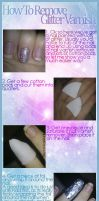 How To Remove Glitter Varnish by JemNailArt