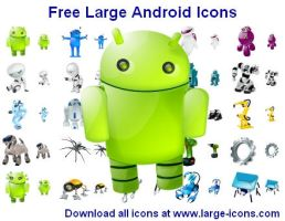 Free Large Android Icons by shockvideoee