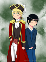 AT:Pirate England and Japan by ota-chan
